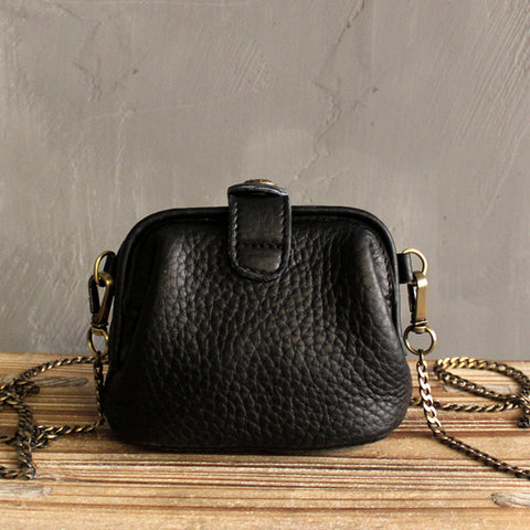 Vintage LEATHER WOMEN Mini Doctor Purse Chain SHOULDER BAG Purses FOR WOMEN