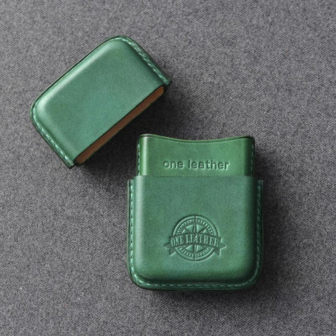 Cool Green Leather Mens 14pcs Cigarette Holder Case Cool Custom Cigarette Case for Men