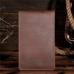 Handmade Genuine Leather Mens Wallet Cool Long Multi Card Wallet for Men