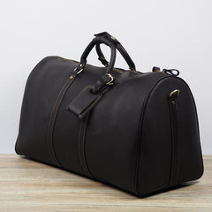 Cool Leather Mens Overnight Bags Weekender Bag Vintage Travel Bags Duffle Bags for Men