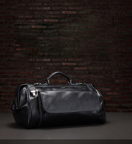 Vintage Leather Mens Large Doctor Bag Weekender Bag Doctor Travel Bag Duffle Bag for Men
