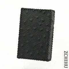 Cool Handmade Leather Mens Black Engraved Cigarette Holder Case for Men