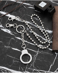 Fashion Womens Men's Handcuffs Stainless Steel jeans chain jean chain Pants Chain Biker Wallet Chain For Men