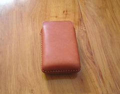 Handmade Brown Leather Mens Cigarette Case Cigarette Holder Case for Men