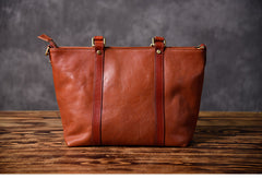 Brown Leather Women Handbag Work Bag Shoulder Bag For Women