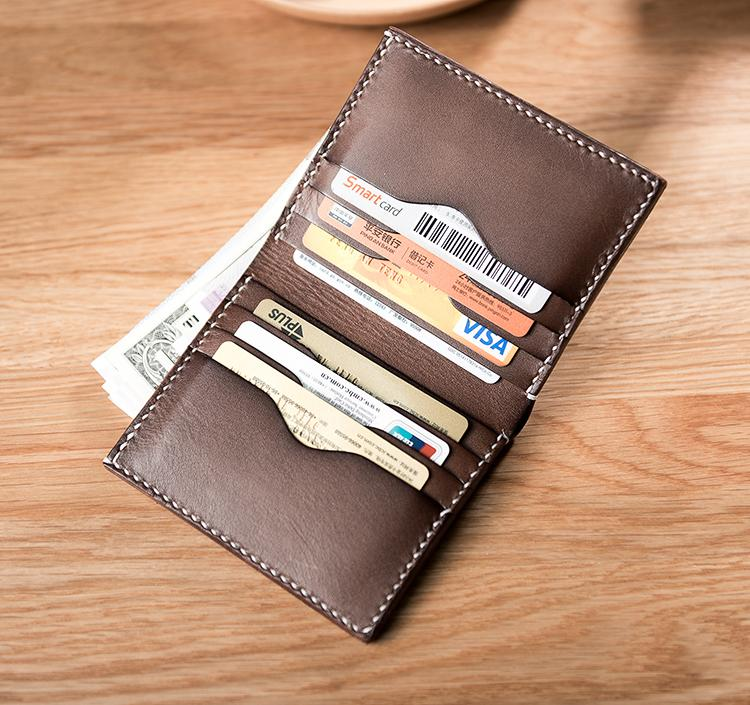 3715f2c5d25b Cool Leather Mens Slim Small Wallets Men Short Bifold Wallet for Men