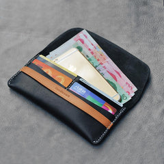 Cool Stylish Leather Mens Wallet Small Card Holder Long Wallet Coin Wallet for Men