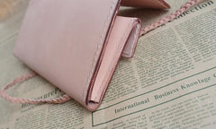 Cool Leather Mens Clutch Long Wallets Handmade Vintage Long Wallet for Women
