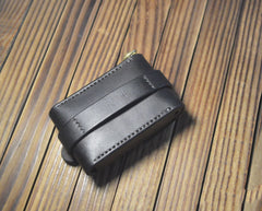 Leather Black Mens Cigarette Case Cigarette Holder Belt Pouch with Belt Loop for Men