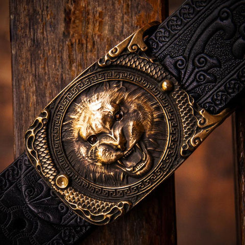 Handmade Cool Leather Mens Belt Leather Men Black Belts for Men