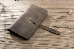 Cool Leather Mens Travel Long Wallet Passport Leather Wallet Long Wallet for Men