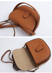 Stylish LEATHER WOMEN Saddle Handbag SHOULDER BAG Crossbody Purse FOR WOMEN