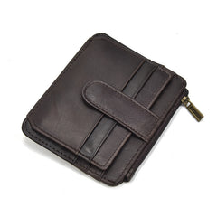 Leather Cool Mens Wallet Slim Wallet Card Front Pocket Wallet Purse for Mens