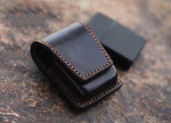 Cool Mens Leather Zippo Lighter Cases with Loop Zippo lighter Holder with clips