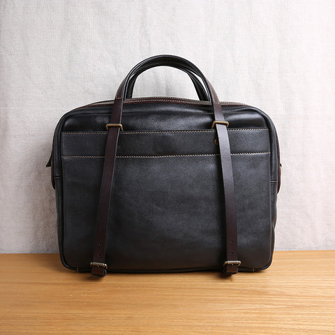 Handmade Cool leather men Briefcase business bag laptop bag for men