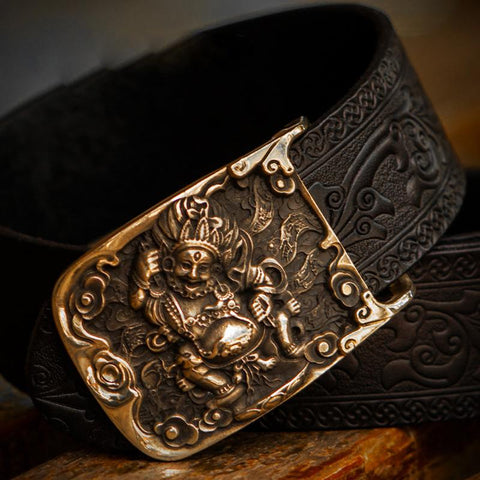 Handmade Cool Black Leather Mens Belts Custom Leather Men Belt for Men