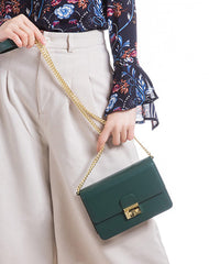 Small Cute Womens Leather Chain Shoulder Bag for Women