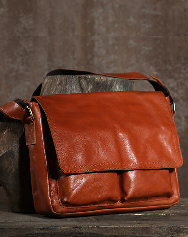 Cool Leather Mens Messenger Bag Shoulder Bags for Men