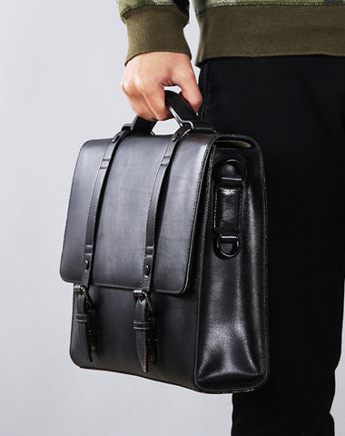 Leather Mens Cool Messengers Bag Large Briefcase Work Bag Business Bag Laptop Bag for men
