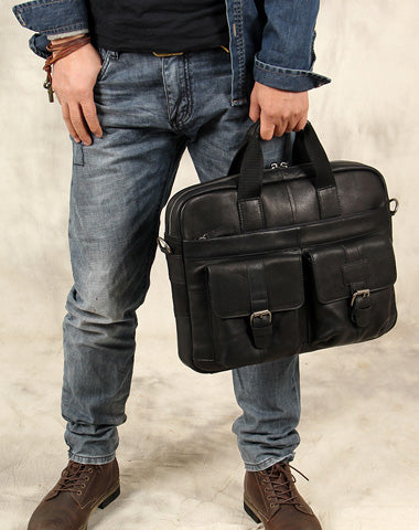 Cool Leather Mens Briefcase Shoulder Bag Handbag Work Bags Business Bag for Men