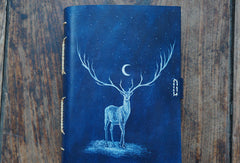 Handmade A5/A6 blue deer custom vintage notebook/travel book/diary/journal