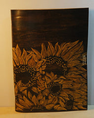 Handmade A5 sunflower custom vintage notebook/travel book/diary/journal