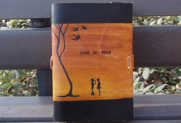 Handmade retro vintage love is here custom notebook/travel book/diary/journal