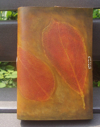 Handmade retro vintage red leaf custom notebook/travel book/diary/journal
