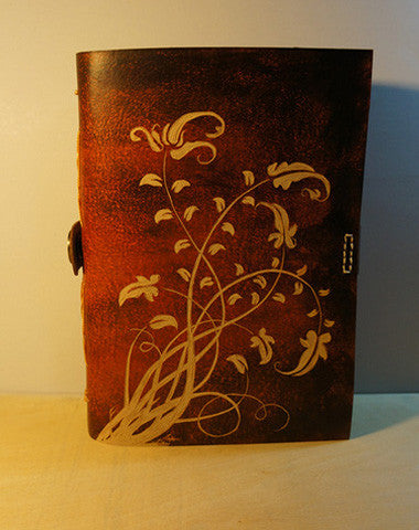 Handmade retro vintage flower custom notebook/travel book/diary/journal