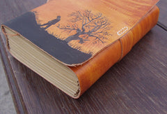 Handmade retro vintage tree man custom notebook/travel book/diary/journal