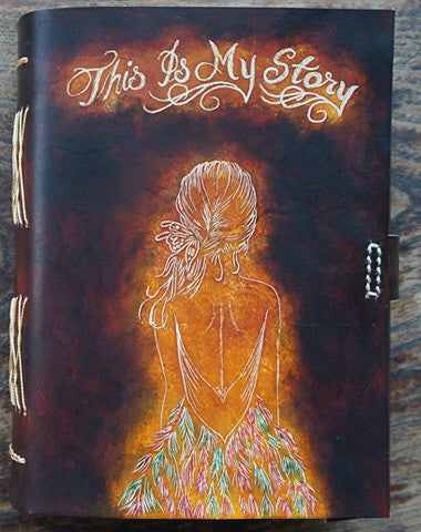 Handmade retro girl custom vintage notebook/travel book/diary/journal