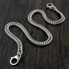 Badass Silver Mens Long STAINLESS STEEL Biker Wallet Chain Pants Chain For Men