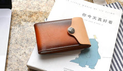 Unique Leather Mens Card Wallet Front Pocket Wallets Small Change Wallet for Men