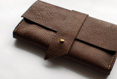Handmade vintage womens leather long wallet leather long wallet for women
