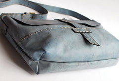 Handmade vintage rustic retro leather crossbody messenger Shoulder Bag for women