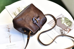 Vintage Womens Tan Leather Doctor Shoulder Bag Side Purses Doctor Crossbody Purses for Women