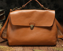 Vintage Fashion Leather Brown Black Handbag Shoulder Bag Work Purse For Women