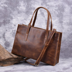 Vintage LEATHER WOMENs Brown Handbag Stylish Shoulder Tote Purse FOR WOMEN