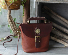 Vintage Leather Bucket Bag Handbags Purses - Annie Jewel