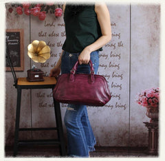 Tan Vintage Womens Leather Doctor Bags Doctor Handbag Doctor's Shoulder Bag Purse for Ladies