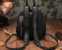 Vintage Leather Small Brown Womens Backpack Travel Backpack Black School Backpack for Women