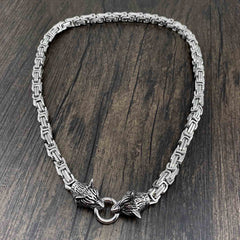 Wolf Head Stainless Steel Heavy STAINLESS STEEL Pants Chain Wallet Chain Double Chain For Men