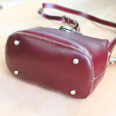 Womens Brown Leather Doctor Shoulder Purses Brown Doctor Crossbody Purses for Women