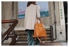Fashion Womens Brown Soft Leather Vertical Shopper Tote Bag Black Shoulder Bag Tote Purse for Women