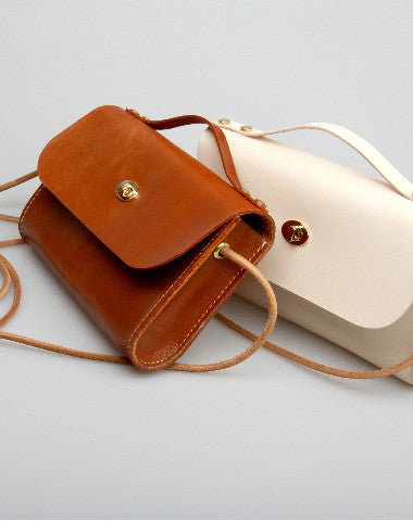 Handmade vintage leather crossbody small Satchel bag shoulder bag for women girl lady