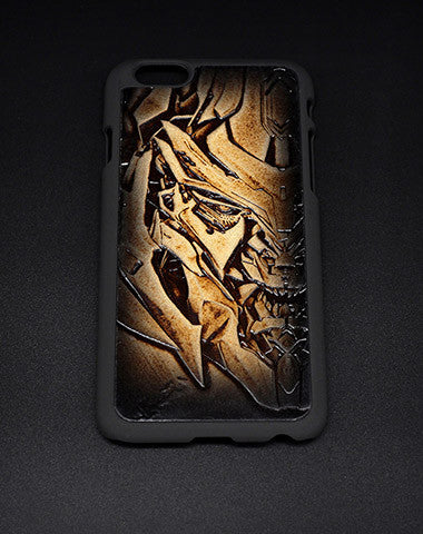 Handmade Transformers Decepticons Megatron carved leather plastic phone case iphone custom phone case