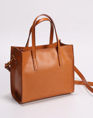 Brown Womens Leather Tote Purse Handbag Shoulder Bag Small for Women Leather Shopper Bag
