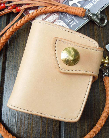 Handmade biker wallet trucker wallets Small chain wallet leather leather billfold wallet for men