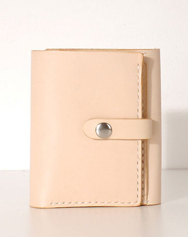 Handmade Leather billfold trifold wallet wallet purse cute small women wallet