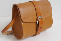 Handmade leather Womens Shoulder Bag Saddle Crossbody Purse for Women